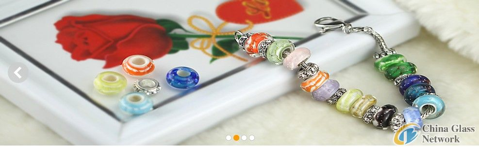 European lampwork glass bead for pandora style bracelet