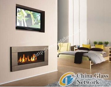 borosilicate fireplace glass