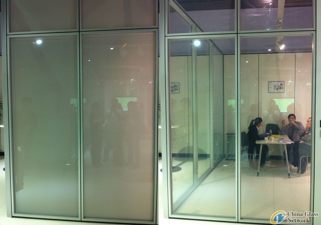 privacy glass for villa/glass house design
