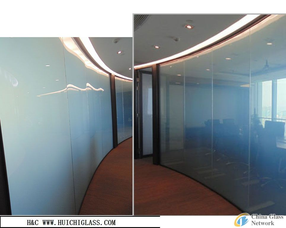 LED glass/Privacy glass/smart switchable glass for interior design
