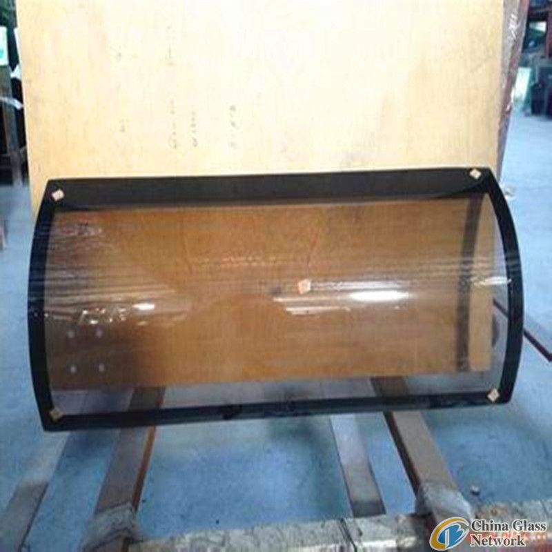 5bronze+5clear bending laminated glass