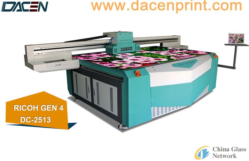 small format uv flatbed printer for glass printing