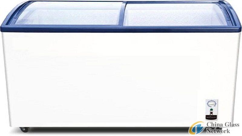 curved fridge glass
