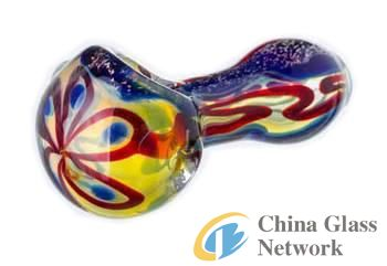 Hot selling glass smoking hand pipe