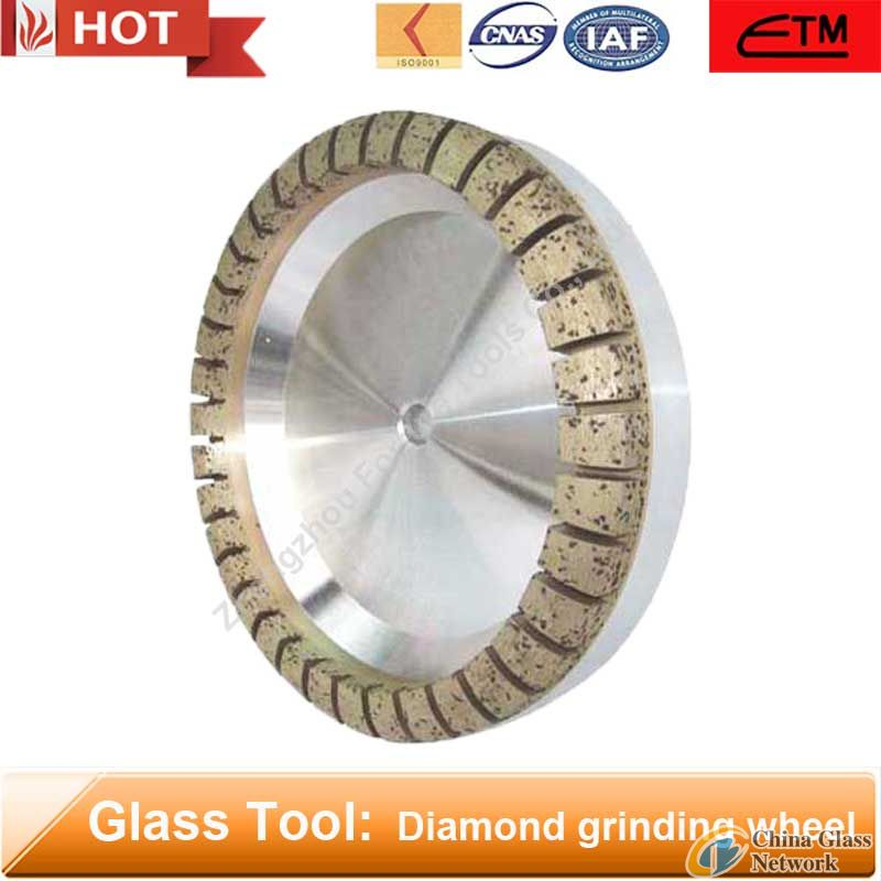 Full segmented diamond cup grinding wheel for glass edging and bevelling