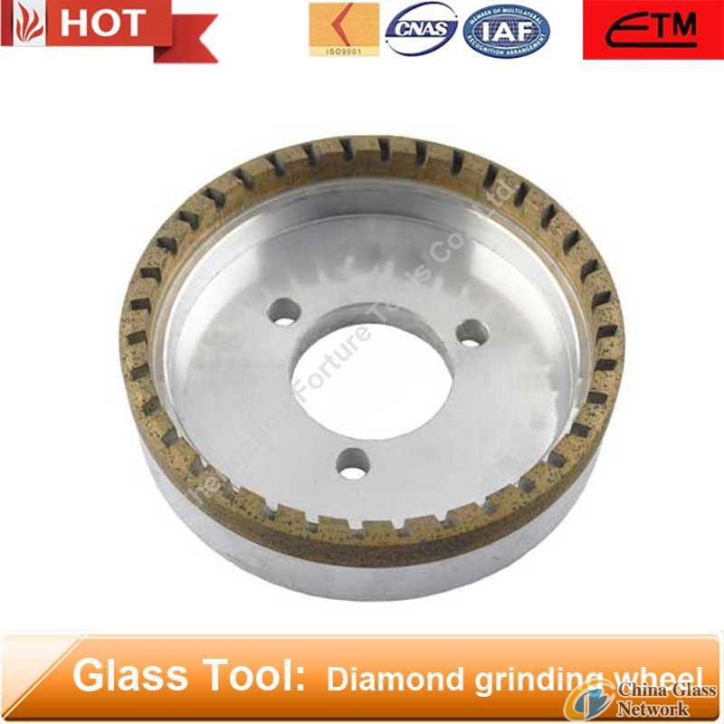 Half segmented metal bond diamond glass grinding wheel