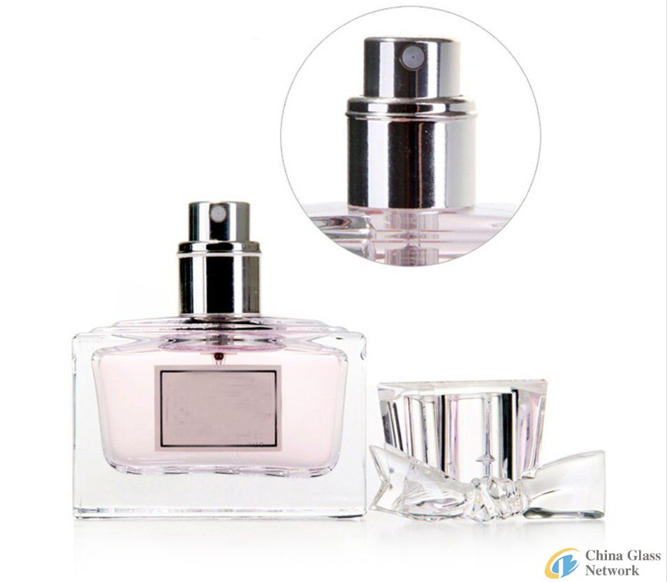 JGP006-50ml square glass perfume bottle with surlyn cap
