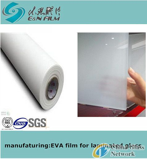 Jade white EVA film with fabric EN40Y2