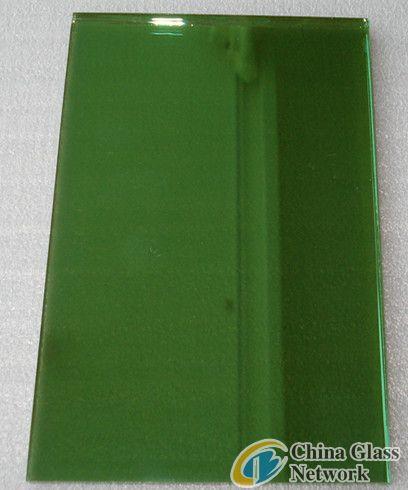 dark green reflective glass