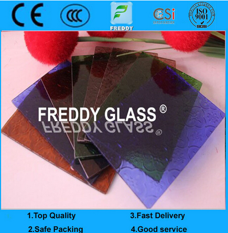 Colored/Tinted/Clear/Color Patterned Glass/Colored Pattern Glass/Color Wired Pattern Glass/Clear Des
