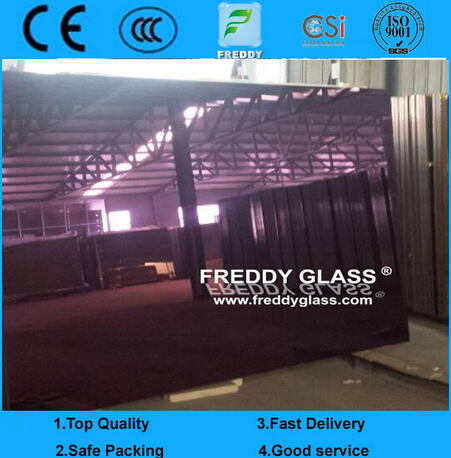 2440*3660mm Sandblasting Ultra Clear Mirror/Frosted Mirror