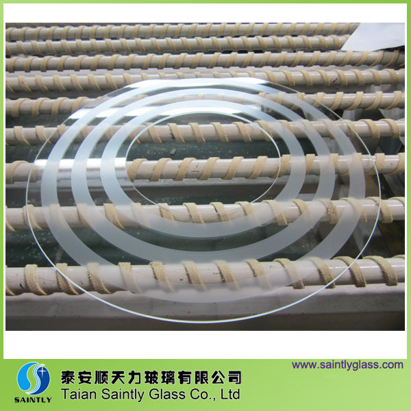 3.2mm special shape tempered light glass