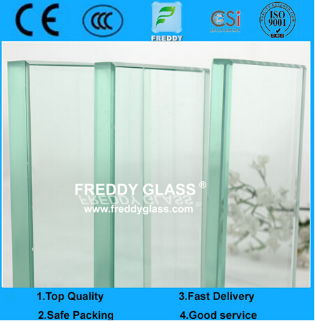 1.8mm-25mm Clear Float Glass/Mirror Glass Grade Float Glass Reflective Glass Tempered Glass Laminate