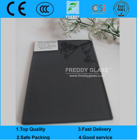 3-12mm Dark Grey Float Glass/Black Float Glass /Decorative Building Glass