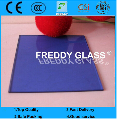 3-12mm Dark Blue Float Glass/ Tinted Float Glass/Ocean Blue Float Glass