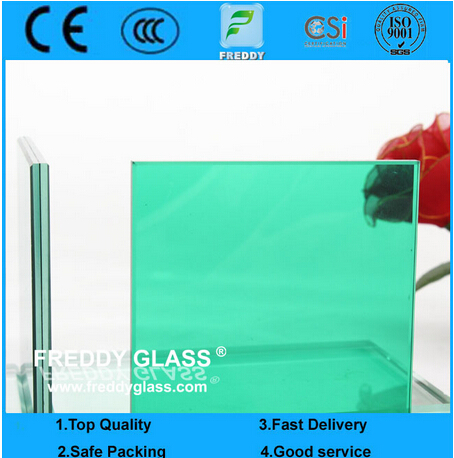 Colored Safety Glass/Tempered Glass/ Laminated Glass with Nature Green PVB/Double Layer Glass