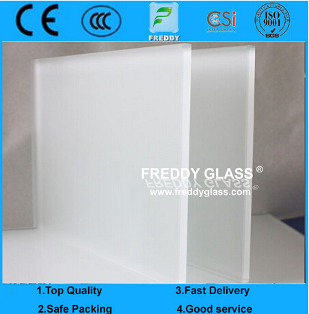 Clear Acid Etched Glass/Frosted Glass/Sandblasted Glass/Colored Frosted Glass/Tinted Acid Etched Gla