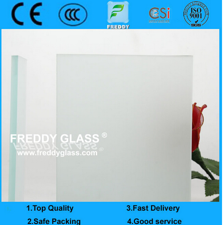 4mm Clear Acid Etched Glass/ Frosted Glass/ Bathroom Glass