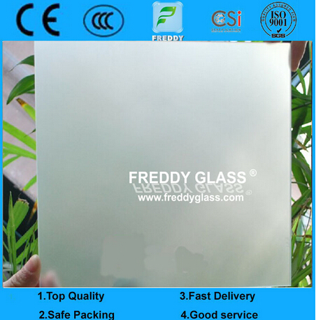 Single or Double Side Frosted Glass/Non-Finger Print Glass/Acid Etched Glass/Sand Blasting Glass/Dec