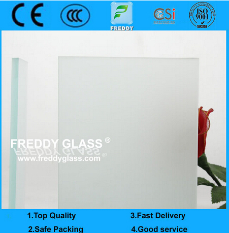 2-12mm Clear Acid Etched Glass/Frosted Glass/Decorative Glass/Bathroom Glass/Door Glass/Tempered Gla
