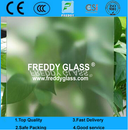 2mm Non Finger Print Acid Etched Glass/ Frosted Glass/Bathroom Glass