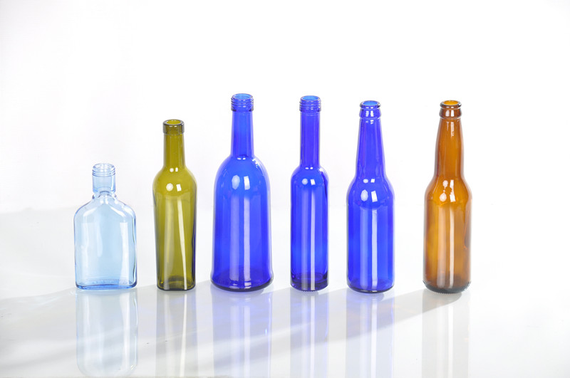 blue beer glass bottle,various size