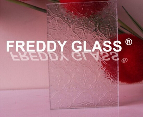 6mm, 8mm, 10mm, 12mm Clear Flora Patterned Glass/Figured Glass/Rolled Glass