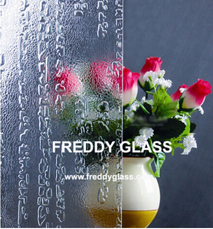 5mm 6mm 8mm Clear Ancient Figured Glass