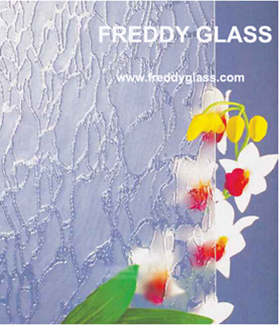 Decorative Glass Morgan-2 Clear Patterned Glass
