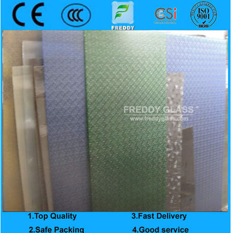 Good Quality Patterned Glass/Colored Patterned Glass