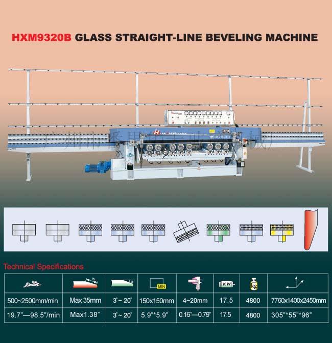HXM9320B Glass Machine/Glass Straight-Line Beveling Machine