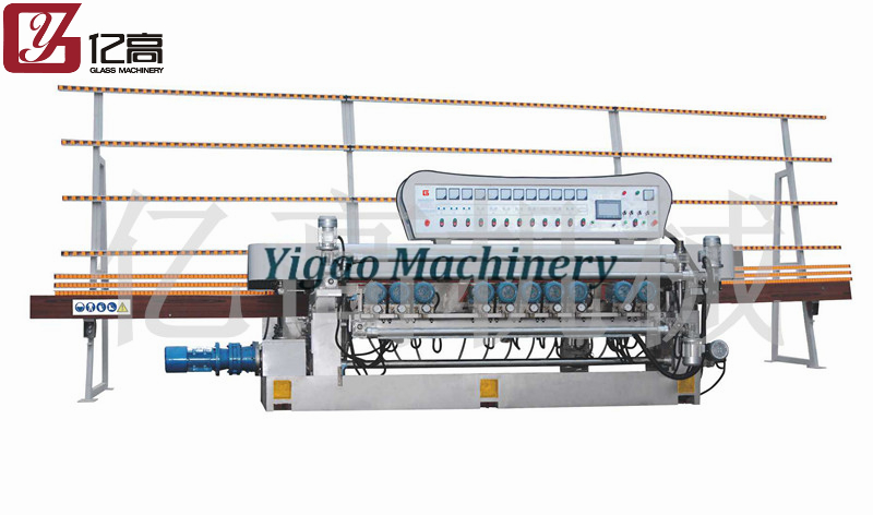 Yigao Machinery/11 Grinding Head Lifting Straight Line Bevelling Machine(YGM-371SJ PLC)