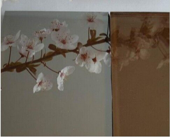 8mm Euro Bronze Reflective Glass/Tinted Reflective Glass/Colored Reflective Glass/Showroom Glass
