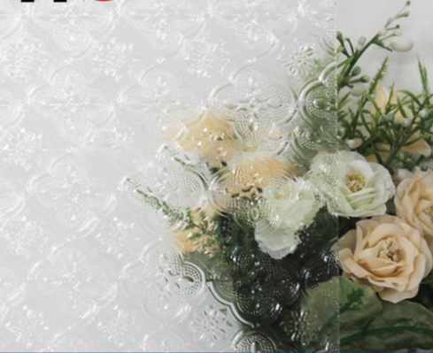 3-8mm  Clear Flora Patterned Glass