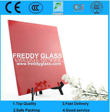 6mm Red Painted Glass/Paint Glass/Lacquered Glass/Colored Glass