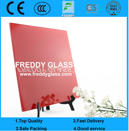 5mm Red Painted Glass/Art Glass/Decorative Glass