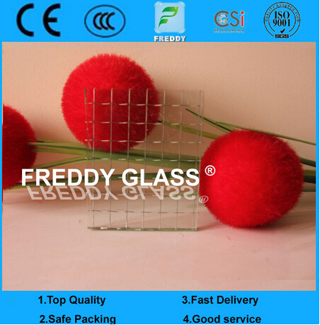 6mm Clear Wired Glass/ Rolled Glass/ Patterned Glass