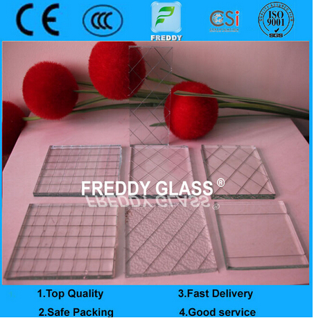 Clear Wired Glass/Clear Wired Patterned Glass/Fire Retardant Glass/Fire Retardant Glass/Flame Resist