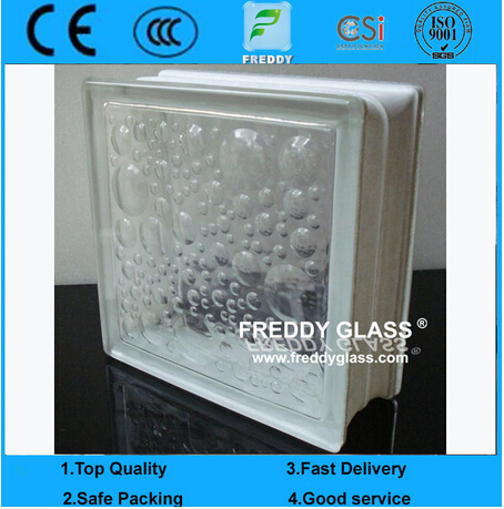 Standard Size Figtured Nautilus Glass Block/Glass Brick/ Glazed Tile/Vitrified Brick/Corner Glass Bl
