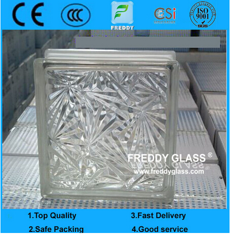 Blue/Green/Clear Diamond Patterned Glass Block/Brick Glass for Decoration