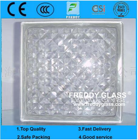 Blue/Green/Grey/Clear Shoulder Glass Block/Shoulder Glass Brick