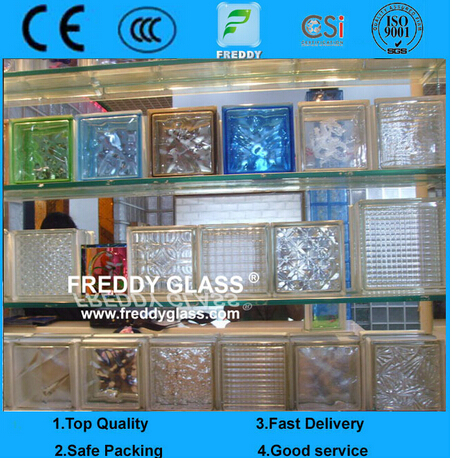 Glass Block/Glass Brick/Corner Brick/Transparent Glass Block/Shoulder Block