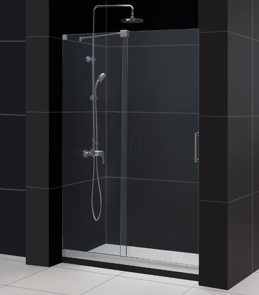 Frameless hinge shower cabin shower door screen /custom hinged smart bathroom door