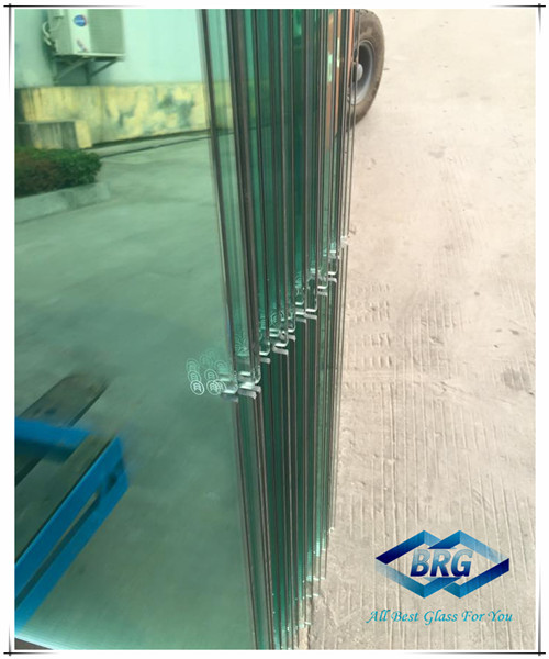 Tempered glass with water jet cutting
