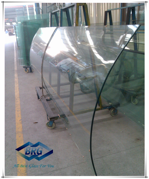 Jumbo Size Curved Tempered Glass/Toughened Glass