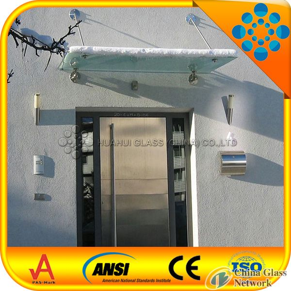 high quality 8+1.52+8mm laminated glass canopy/17.52mm clear tempered laminated glass awning