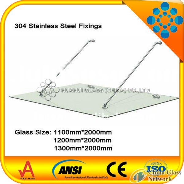 high quality 8+1.14+8mm laminated glass canopy/17.14mm clear tempered laminated glass awning