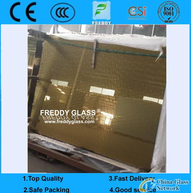 decorative mirror/yellow mirror/golden bronze mirror/color float mirror/tinted mirror