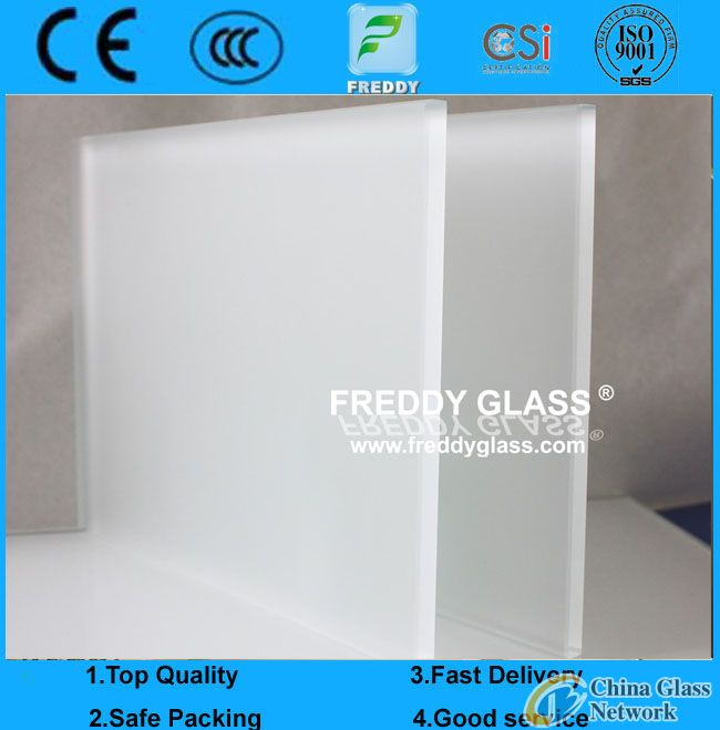 2-19mm ultra clear Non-Figure Print Clear Acid Etched Glass/Sandblasting Glass/Frsted Glass/Sandblas