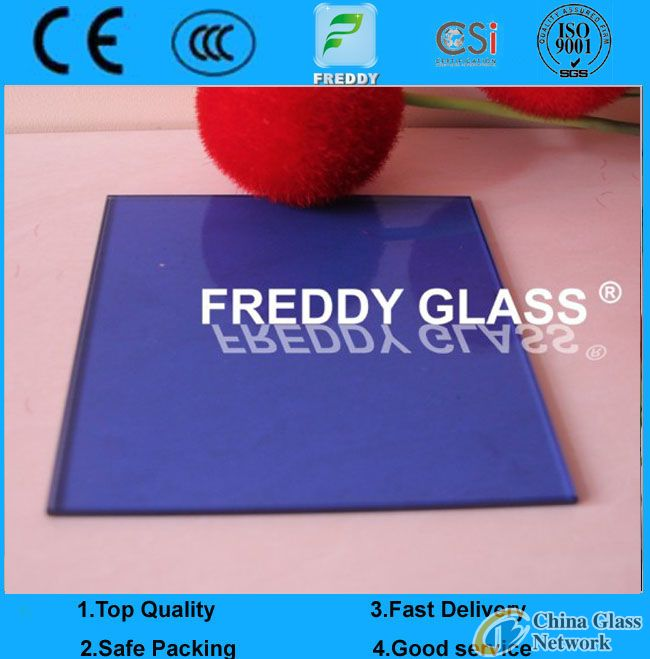 4-12mm dark blue float glass/dark blue float glass/tinted float glass/blue float glass/coean blue fl